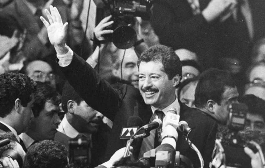 Candidate Colosio at a campaign rally.