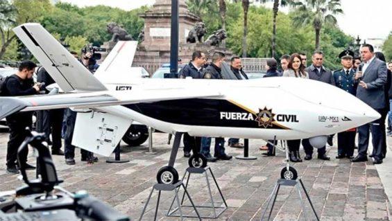 Nuevo León's new high-tech drone.