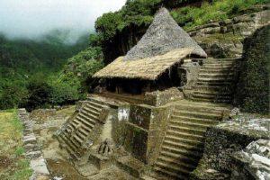 The Cuauhcalli temple at Malinalco.