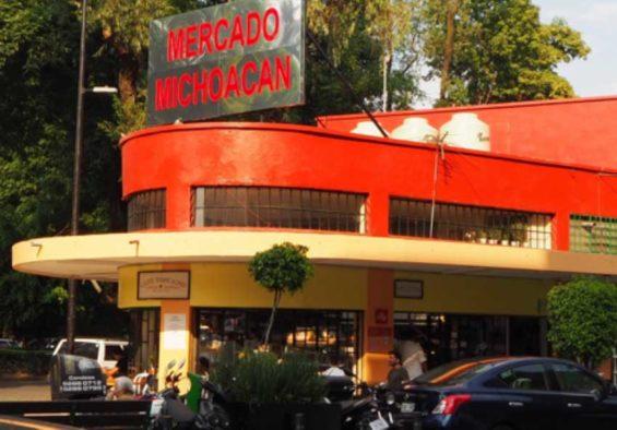 La Condesa's only permanent market, Mercado Michoacán.