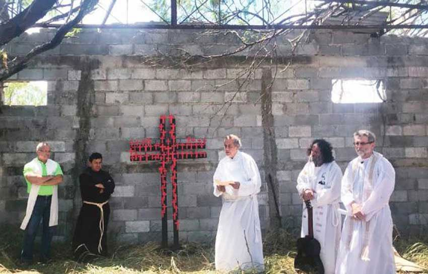 A memorial ceremony last year for victims of the San Fernando massacre.