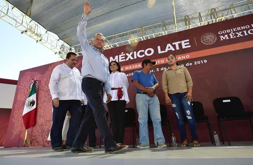 The president in Los Cabos yesterday.