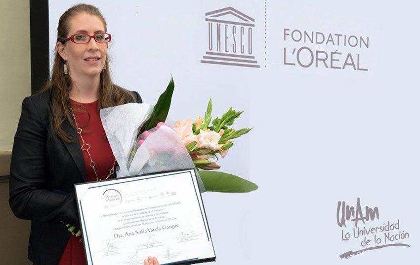 Award-winning scientist Sofía Varela in Paris yesterday.