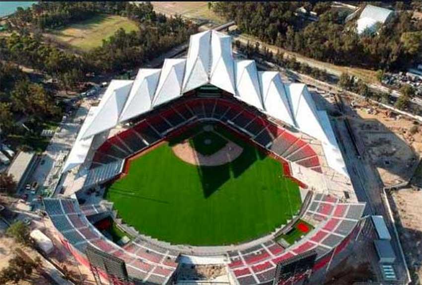The new Diablos Rojos baseball stadium in Mexico City.
