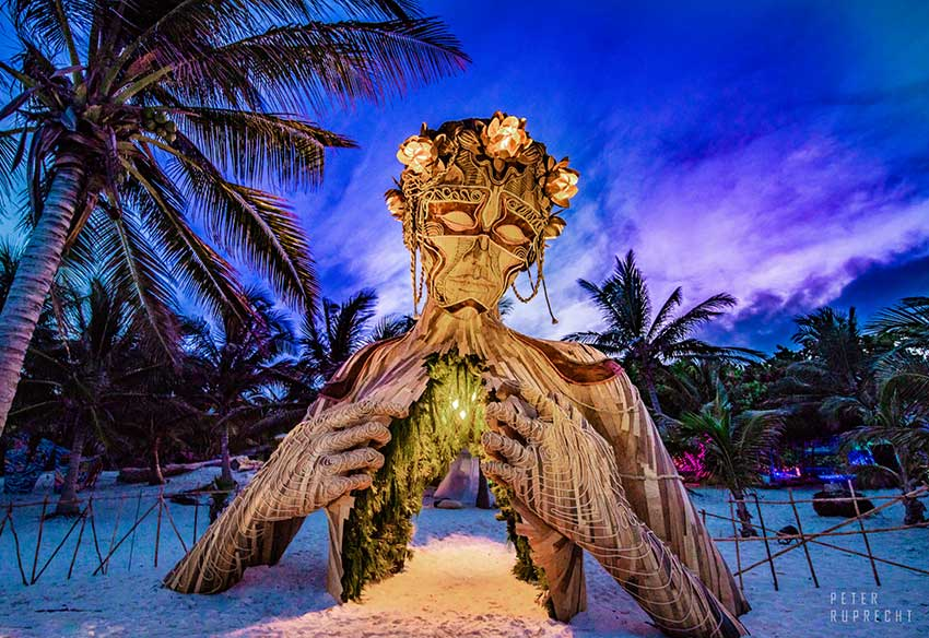 An art installation at last year's festival in Tulum.