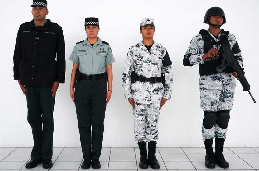 The uniforms of the new National Guard.