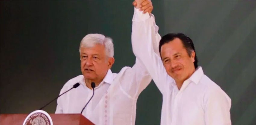 López Obrador and Governor García.