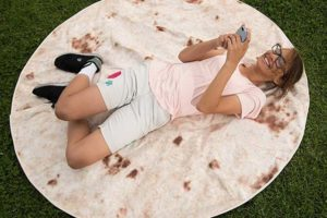 Tortilla blanket makes a good taco for lounging on.