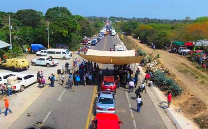 The 10-day-old blockade in Oaxaca.