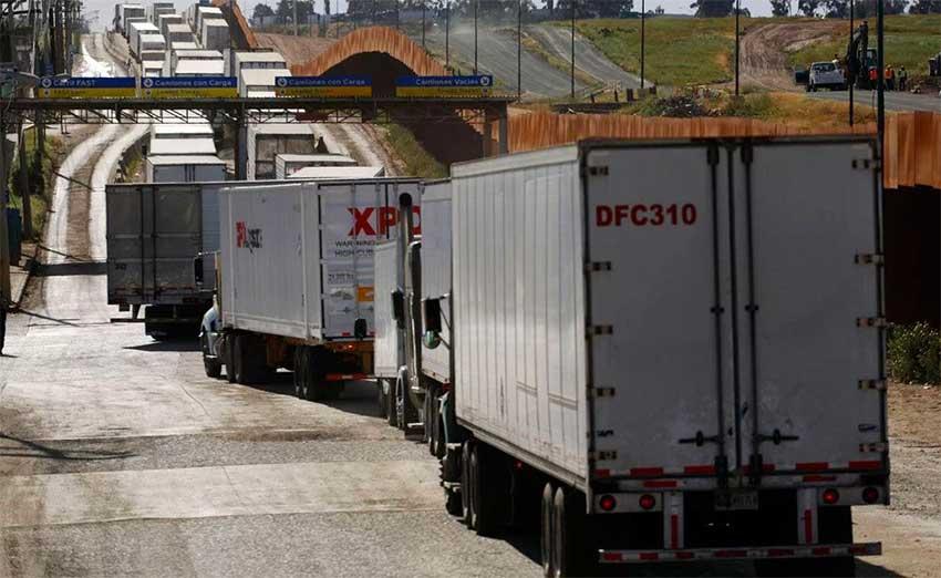trucks at the border