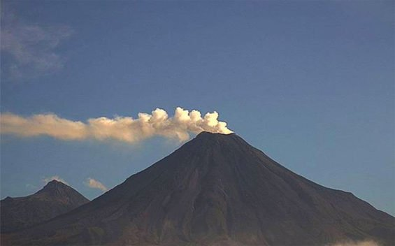 Increased activity reported at the Colima Volcano.