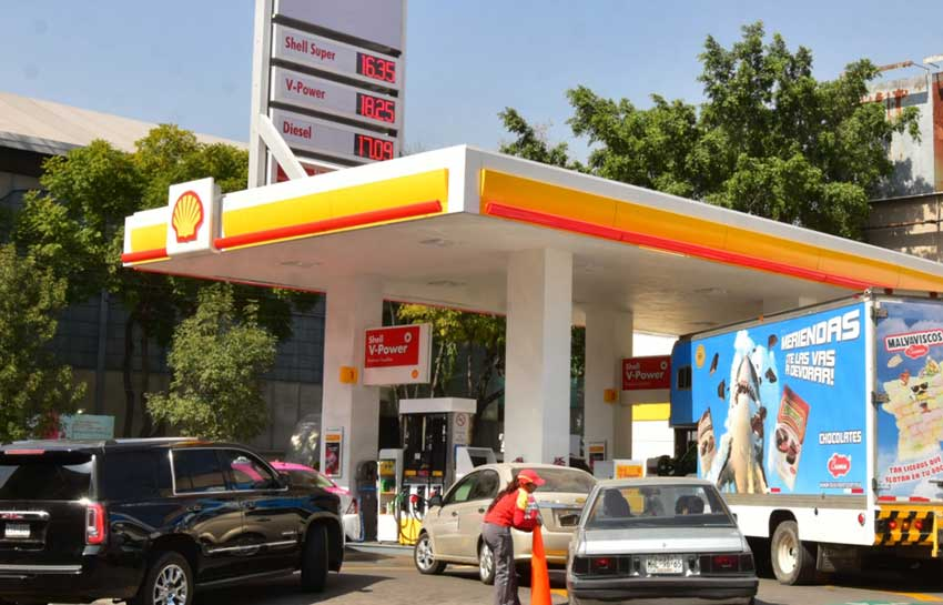 Shell gas was the most expensive last week.