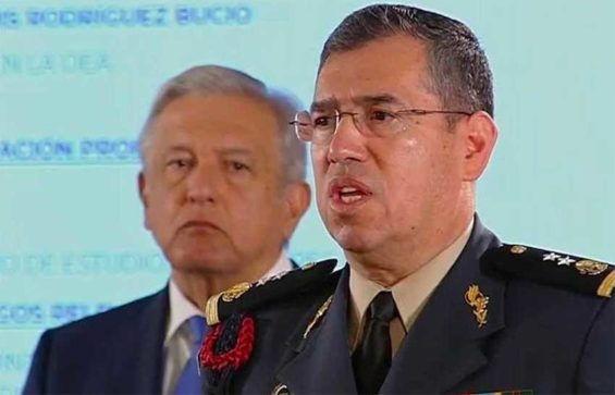 Rodríguez speaks at a press conference yesterday after being announced as the head of the new National Guard.