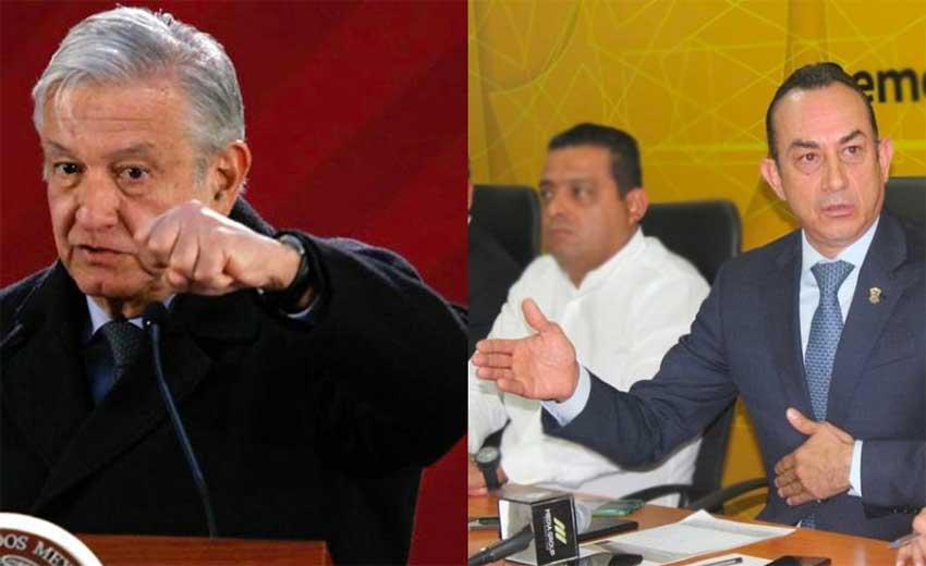 López Obrador, left, and the PRD's Soto, far right.