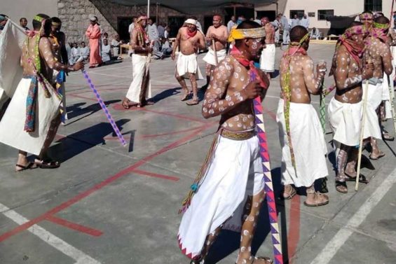 Rarámuri inmates celebrate Easter in Chihuahua prison.