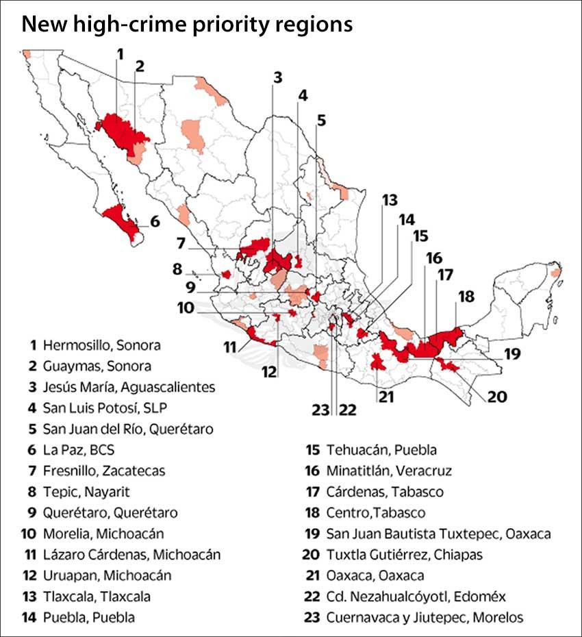 high-crime regions