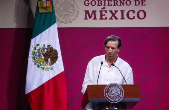 Hotels' spokesman Barrios at Tianguis Turístico yesterday.