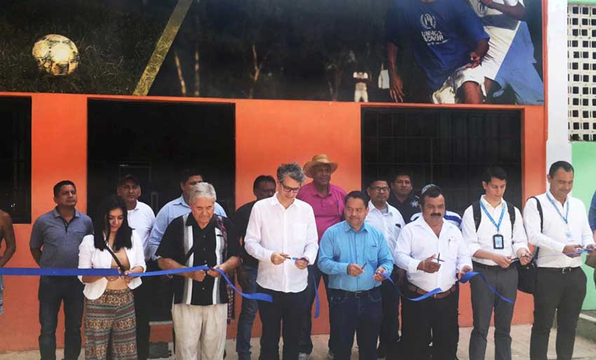 A new gymnasium is opened in Palenque with support from UN.