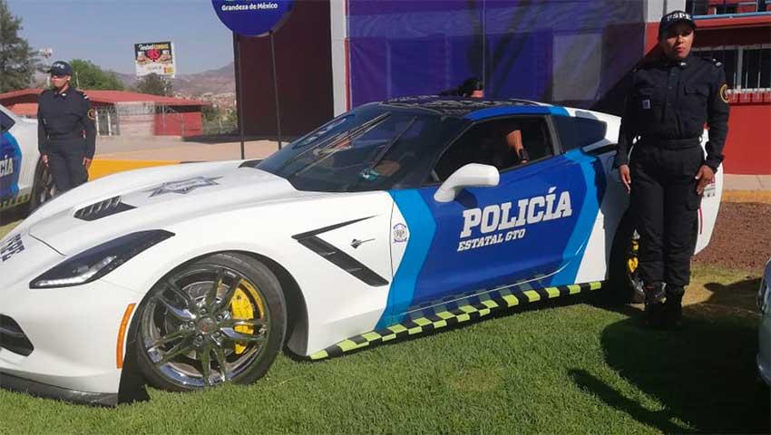 sporty police car