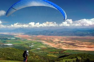 Located in the Sierra Tapalpa, La Ceja is a popular place for paragliders to take off.