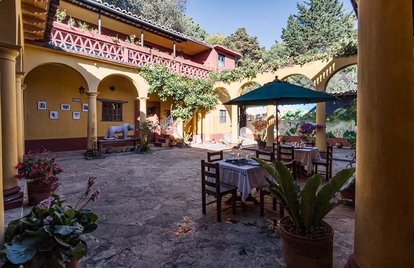 Dining area of Casa Na Bolom