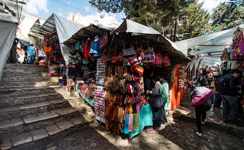 The Artisan Market in El Cerrillo, San Cristóbal.