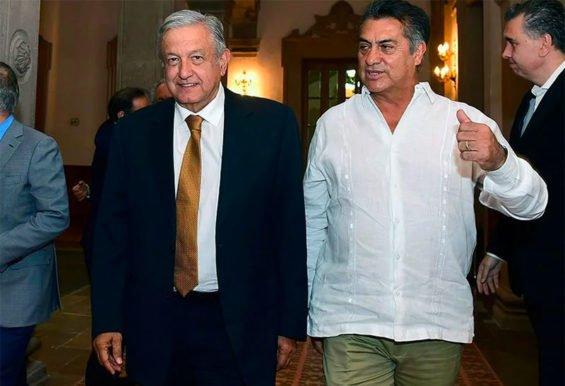 López Obrador and Nuevo León Governor Jaime Rodríguez.