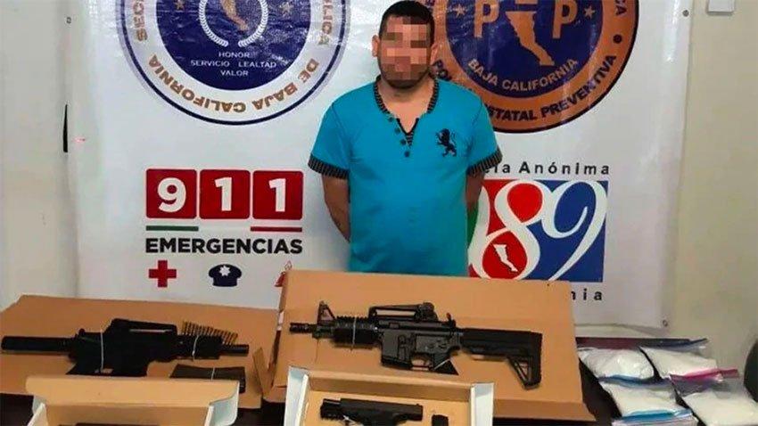 The cartel leader captured in Tijuana yesterday.