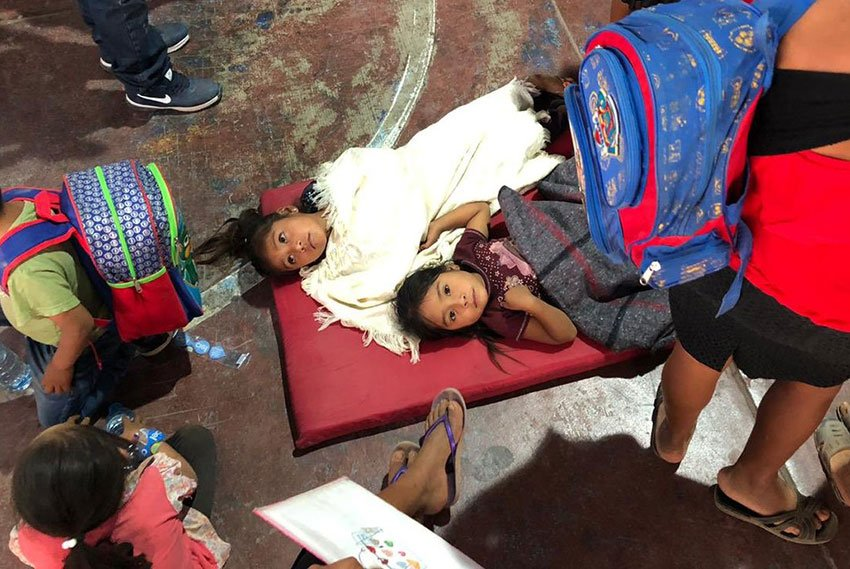Food poisoning victims in Guerrero.