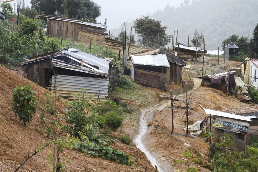 Chochoapa el Grande is on a par with Burundi.