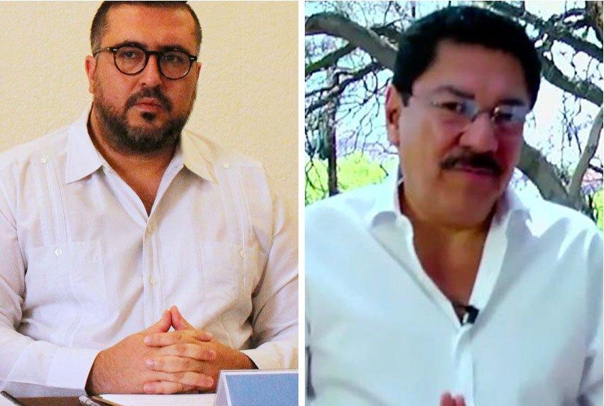 Peimbert, left, has accused Ruiz of crimes against humanity.