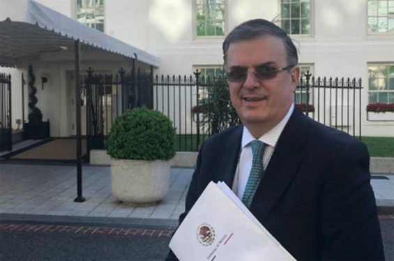 Foreign Secretary Ebrard in Washington yesterday.
