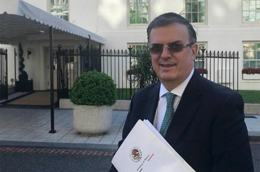 Foreign Secretary Ebrard in Washington yesterday.