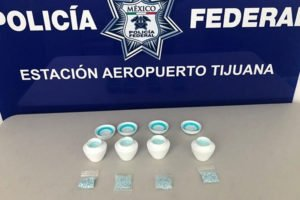 Police found fentanyl hidden inside jars of cream when they searched a courier service in Tijuana last fall.