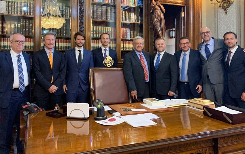 Representatives of Ikea met yesterday with the president and other government officials.
