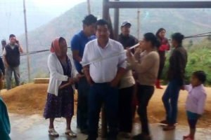 The hapless mayor of Siltepec is bound to a post.