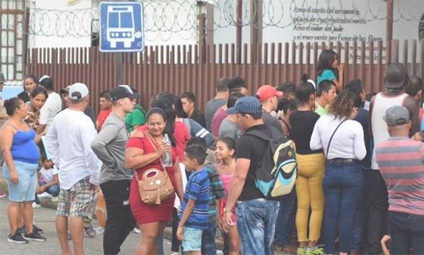 Migrants in Tapachula, Chiapas.