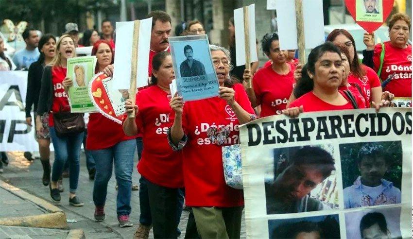 Mothers march in Monterrey, Nuevo León.