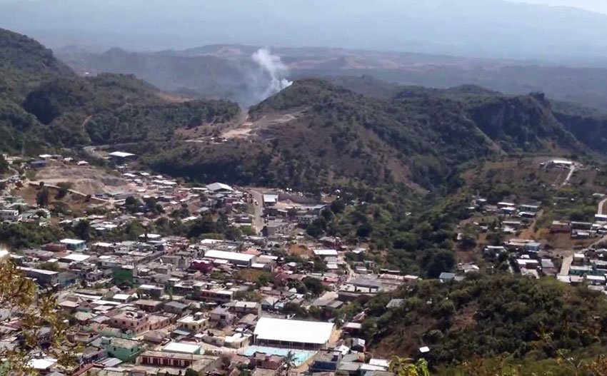 Nentón, Guatemala, where 1,000 migrants have been reported crossing the Mexican border every day.