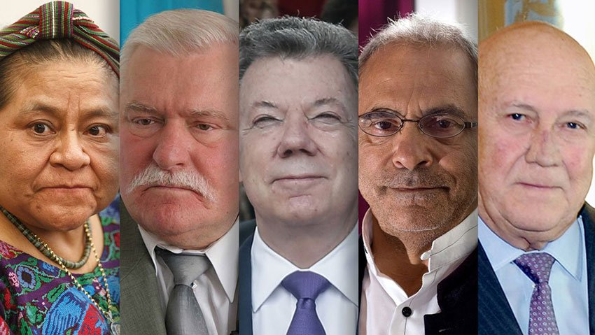 Guests in Mérida will include peace laureates Menchú, Walesa, Santos, Ramos Horta and de Klerk.