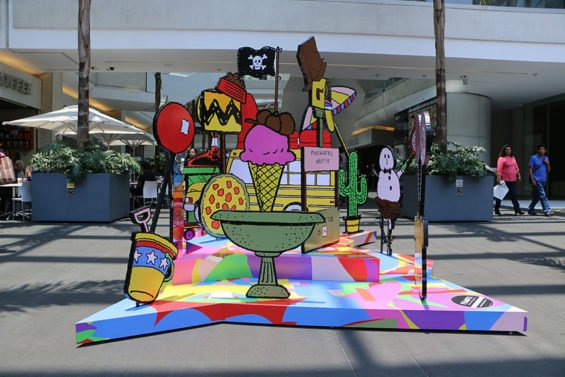 The Peanuts art installation in Mexico City.
