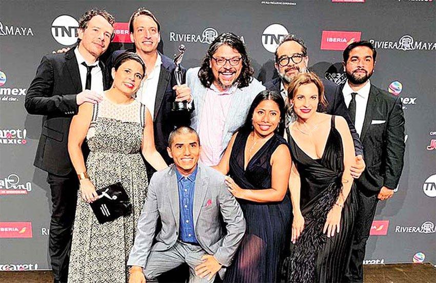 The Roma crew at last night's Platino Awards in Playa del Carmen.
