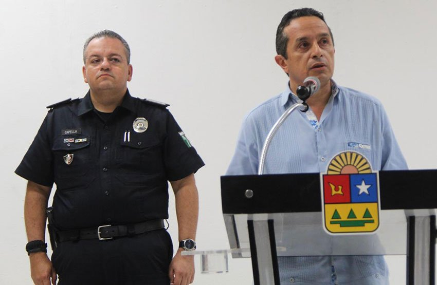 State security chief Capella, left, and Governor Joaquín.