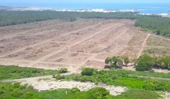 The Dos Bocas refinery site.
