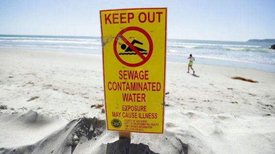 A two-year-old file photo of a San Diego beach indicates the problem is not new.