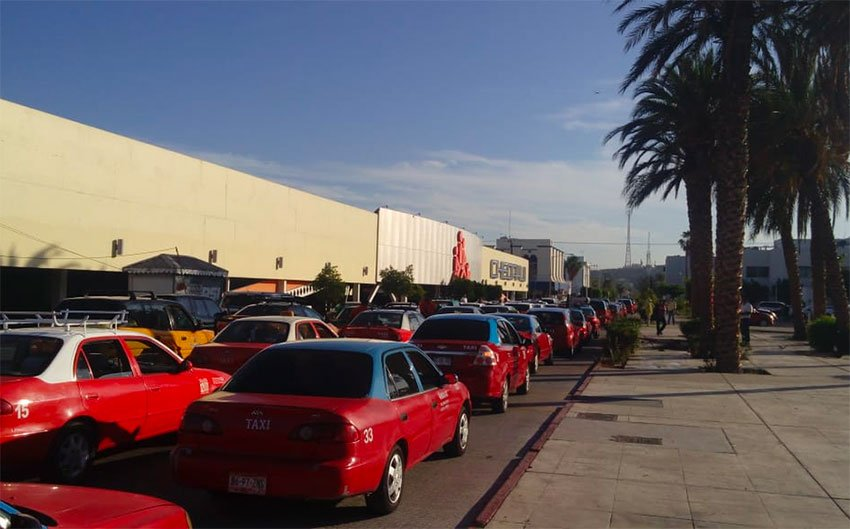 A protest by taxi drivers last year in La Paz.