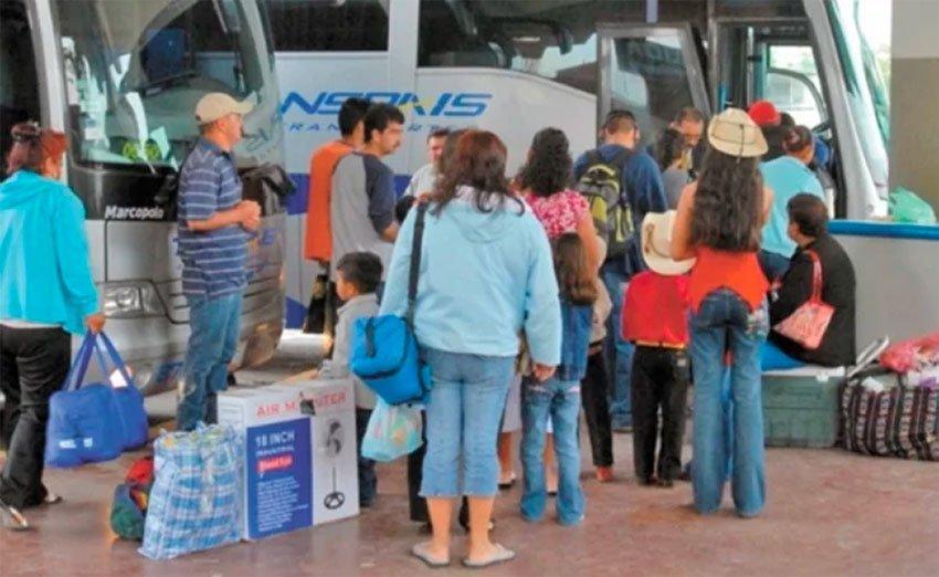 bus travelers