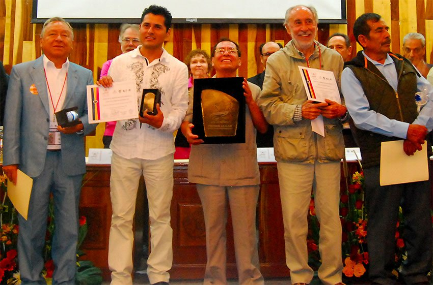 Coffee producers who won a previous Cup of Excellence competition in Mexico.