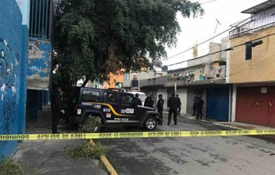 A crime scene in Iztapalapa.
