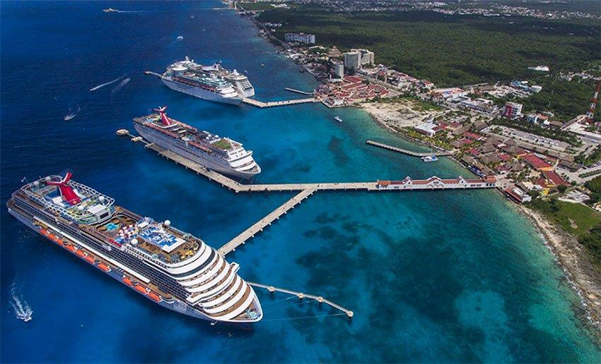 Cruise ships in Cozumel.